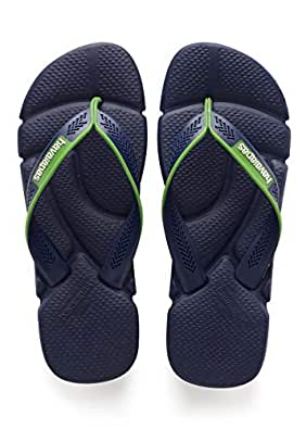 havaianas Men's Power Flip Flop Sandals, Comfort Designed Footbed, Grippy Outsole,Navy Blue/White,39/40 BR (8 M US)