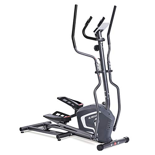 MaxKare Elliptical Trainers Exercise Bike Portable Upright Fitness Workout Bike Machine, 8-Level Magnetic Resistance,Quiet Driven,LCD Monitor,Heart Rate Monitor,Calories Burned (Front flywheel) ()