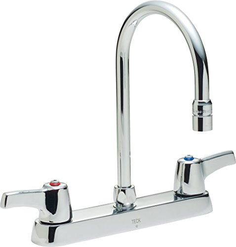 Delta Faucet 26C3943 Two Handle 8-Inch Cast Deck-Mount Faucet, Chrome ()