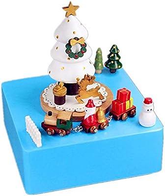 Ouqian-Home Caja Musical Árbol de Navidad Caja de música ...