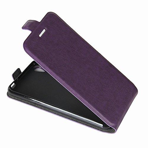 OFU® Para Asus Zenfone 3 ZB501KL 5.0 Funda,PU Hybrid Card Carry Pocket Wallet Slot,Cartera Cuero Funda de Piel Wallet Case para Asus Zenfone 3 ZB501KL 5.0 Carcasa Flip Case Cover(blanco) púrpura