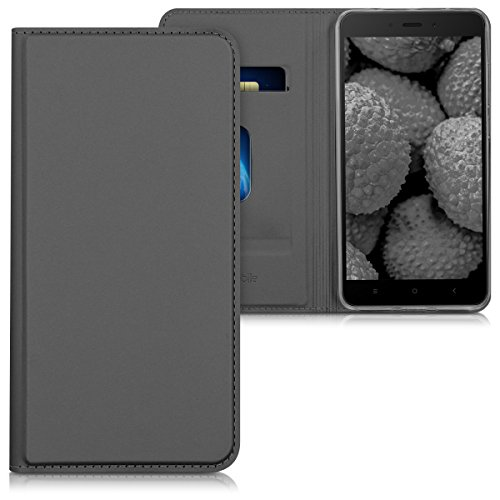 nd chic FLIP COVER case for Xiaomi Redmi Note 4 in anthracite (Practical Notes)