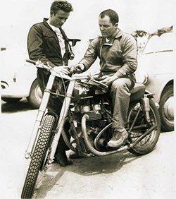 - Photo John McLaughlin On Motorcycle & James Dean
