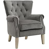 Dorel Living Accent Chair, Gray