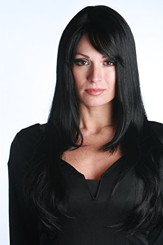 Premium Quality Sexy Long Witch Theatrical Costume Wig - Black]()