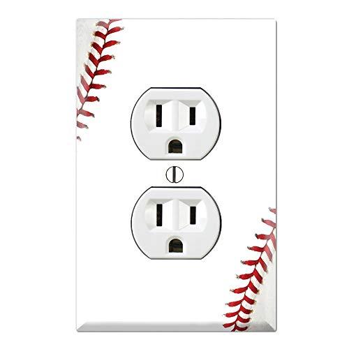 Baseball Clearance Outlet (Graphics Wallplates - Baseball - Duplex Outlet Wall Plate)