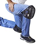 Professional Work Knee Pads - Heavy Duty Protect Caps with Adjustable Elastic Straps and Soft Convenient Gel Cushion - Protect your Knees at Work Home or Garden