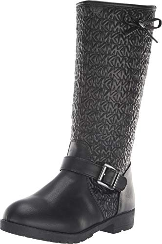 Michael Kors Dhalia Dearest (Youth) Black (Michael Kors Boots For Big Kids)
