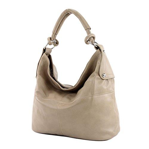 Sac à main pour sac femme sac à bandoulière italien sac cuir sac cuir nappa T61 T61 Helltaupe