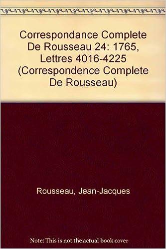 En ligne téléchargement Correspondance Rousseau 24 CB pdf epub