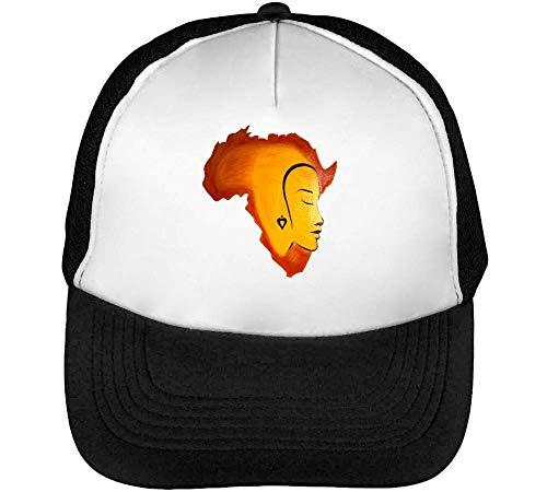Blanco Snapback Beisbol Africa Graphic Gorras Artwork Tribal Negro Hombre XR8Rwfgnq