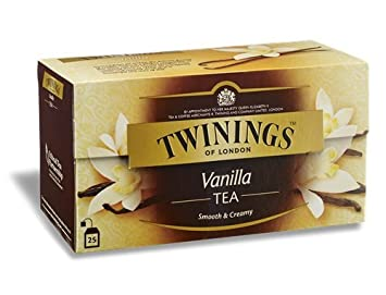 Twinings Vanilla Tea, Fine Tea with the Rich Sweet Taste of Vanilla 25 Sachets Net