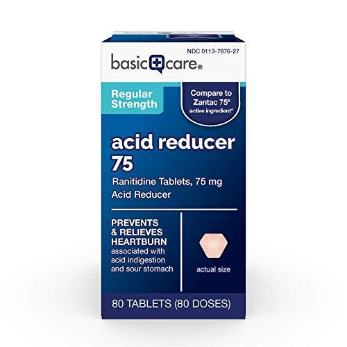 75 Mg Acid Reducer - Basic Care Ranitidine 75 mg Tablets, 80Count