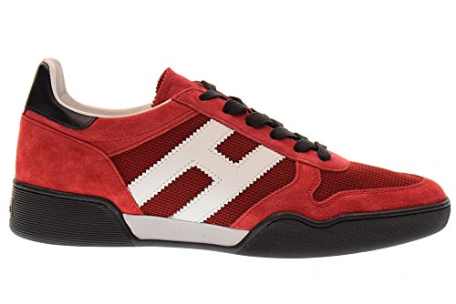 wholesale price Hogan Shoes Men Low Sneakers HXM3570AC40IPJ879Y H357 Red 100% guaranteed for sale qX8PZK