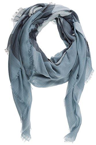 Burberry men's wool scarf blu