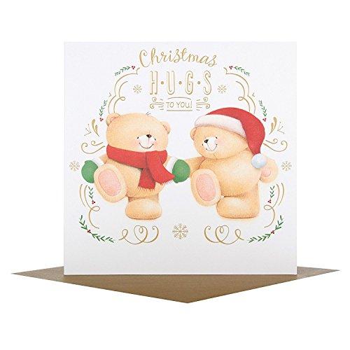 Hallmark Medium Forever Friends 'Hugs To You' Christmas Card