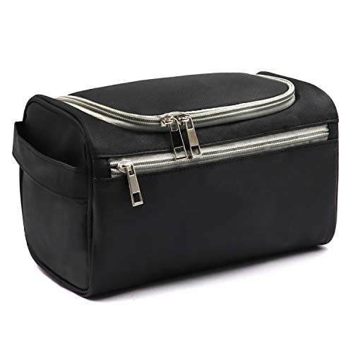 dc4284eb9c44 Travel Toiletry Bag Waterproof Zip Organizer Hanging Cosmetic Makeup Shower  Bag With Large Compartment for Men Women for Trip Vacation Gym
