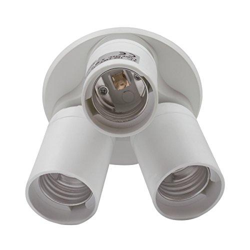 8T8 3 in 1 Light Socket Adapter Splitter, E26 E27 Lamp Holder Converter for Photo Studio Photography Home Indoor Lighting (Studio_3) by 8T8