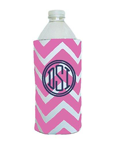 Monogrammed Chevron Water Bottle Koolie (Pink) -