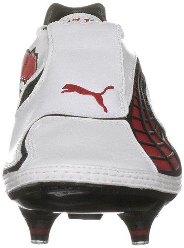 Puma - zapatillas de fútbol adultos unisex White-pompeian Red-black