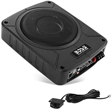 BOSS Audio BAB8K 8 Inch Amplified Car Subwoofer//Wiring Kit 800 Watts Max Power Remote Subwoofer Control Low Profile 8 Gauge Amplifier Wiring Kit Bass for Limited Space