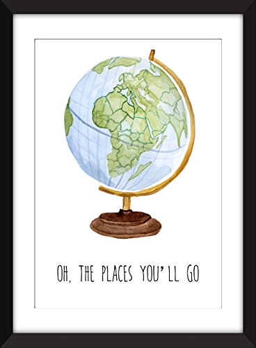 Oh The Places You'll Go Unframed - Number First Class Tracking Mail Parcel