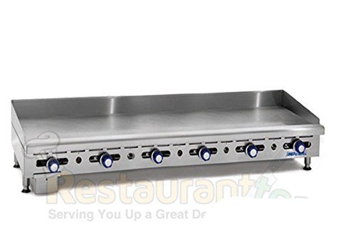 Imperial Commercial Griddle Manually Controlled 6 Burners 72'' Wide Plate Propane Model Imga-7228-1 by Imperial