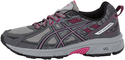 ASICS Women's Gel-Venture 6 Running-Shoes,Carbon/Black/Pink Peacock,9 Medium US by ASICS (Image #5)