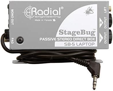 Radial Engineering StageBug SB-5 portátil estéreo pasiva Caja ...