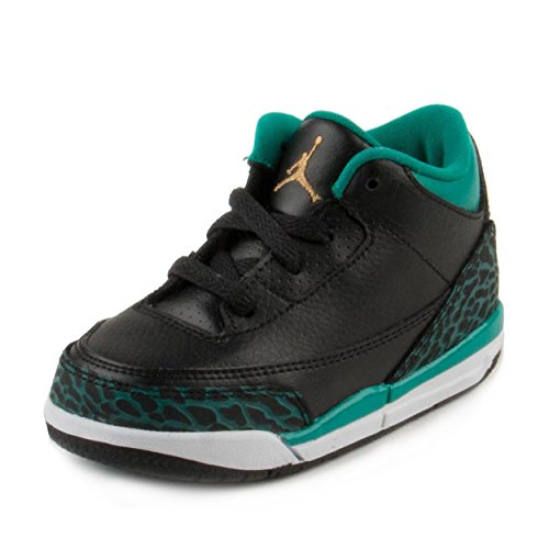 separation shoes 54ab5 e8e30 Galleon - 654964-018 INFANTS AND TODDLER 3 RETRO GT JORDAN BLACK METALLIC  GOLD