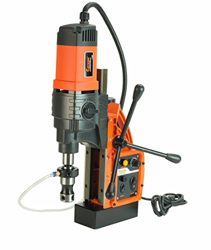 Cayken KCY-48-2WDO 1.8″ Magnetic Drill Press with 1700W Variable Speed Motor, MT2 to Weldon Shank, 3260 LBS Magnetic Force