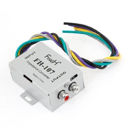 Dealmux Car Speaker To 2 Rca Line High Low Level Amplifier Converter