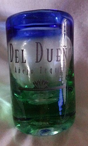 Del Dueno Anejo Tequila Hand Blown Mexican Shot Glass