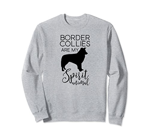 Unisex Funny & Unique Border Collies Dog Lover Sweatshirt J000246 Small Heather Grey (Border Southern)