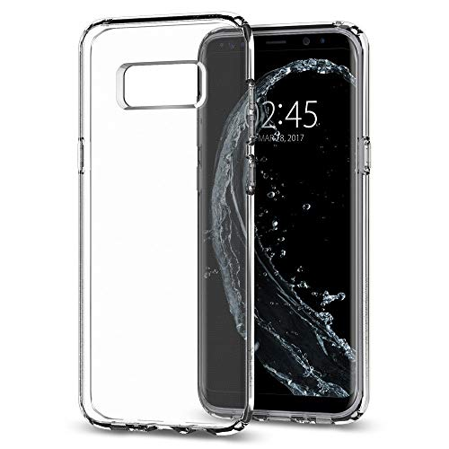 Spigen Liquid Crystal Galaxy S8 Case with Slim Protection and Premium Clarity for Samsung Galaxy S8 (2017) - Crystal Clear