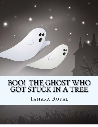 Boo!  The Ghost Who Got Stuck In A Tree: The Halloween coloring book with candy skulls and a story about the wind, seasons and friends -