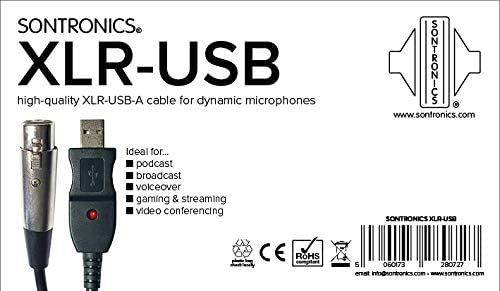 Sontronics XLR-USB cable for dynamic microphones 3 metre