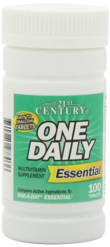 21st Century One Daily Tablets - 21st Century One Daily Essential Tablets, 100 Count