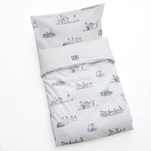 R/ätt Start Beskow Charakter Kinderbett Bett Set grau