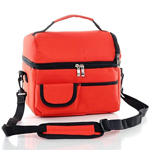 Price comparison product image Tactical Double-layer first aid kit,  Climbing Travel Shoulder Bag Preservation Cold Insulation (red)