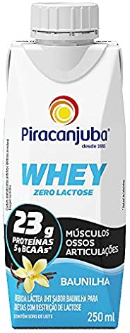 Whey Zero Lactose Sabor Baunilha Piracanjuba 250ml