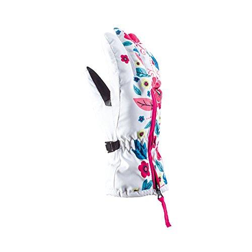 Viking Poppy Kinder Skihandschuhe Atmungsaktiv Warm Ski Snowboard Handschuhe - Weiss, 5