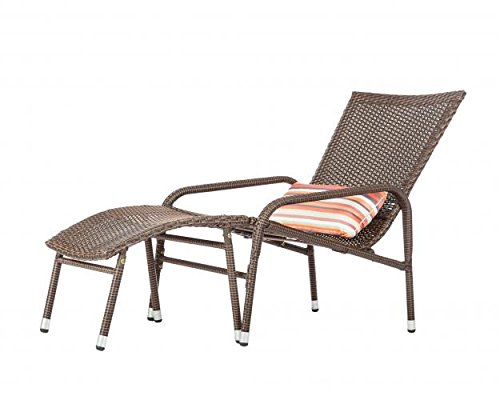 Patio Sense 62408 Lido Lounge Set Chair (Outdoor Reclining Ottoman)