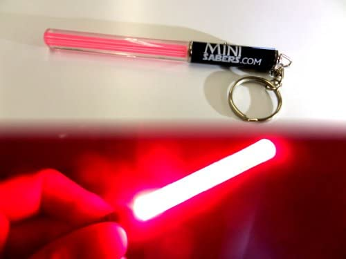 ROJO Mini luz del partido del llavero del sable de Star Wars light saber clubes palillos ligeros LED partes Jedi baile V. roja fresca, verde o rosa ...