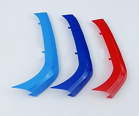 12 Rejillas de /ángulo Agudo ABS 3 Colores 2 Piezas 3D Coche Espejo Retrovisor de Lluvia Cejas Maiqiken 3D Coche Rejillas Frontales Cover Hebilla para 1 Serie E87 2004-2011
