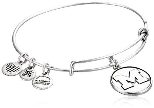 Alex and Ani University of Michigan Rafaelian Silver Bangle Bracelet