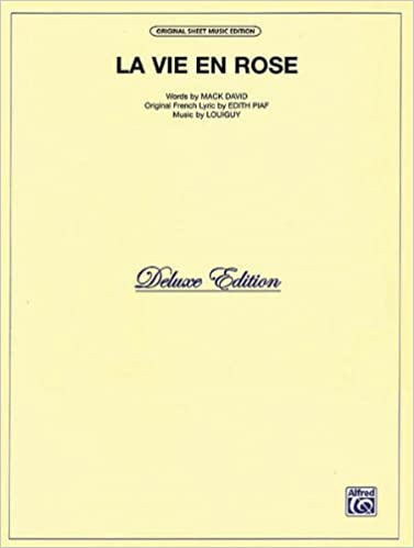 La Vie En Rose Pvg Sheetmusic Amazon Books