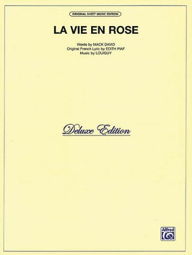 La Vie En Rose - P/V/G - Sheet Music Rose Vie