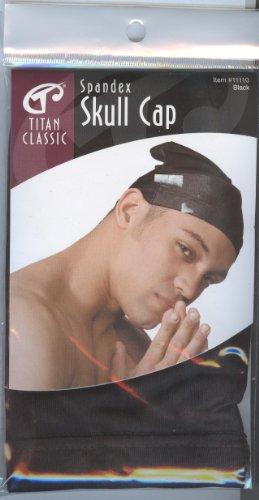 Titan Classic Spandex Skull Cap Black (Classic Skull Cap)