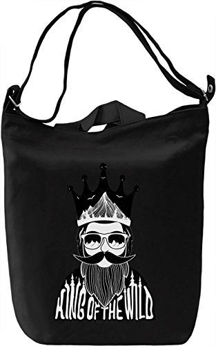 Wild king Borsa Giornaliera Canvas Canvas Day Bag| 100% Premium Cotton Canvas| DTG Printing|